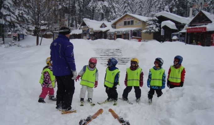 Ski Shool Borovets and children students